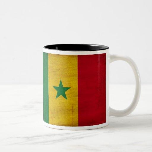 Taza de la bandera de Senegal