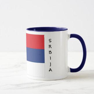 Taza de la bandera de Serbia