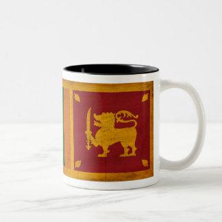 Taza de la bandera de Sri Lanka