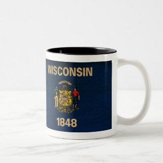 Taza de la bandera de Wisconsin