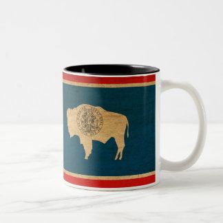 Taza de la bandera de Wyoming
