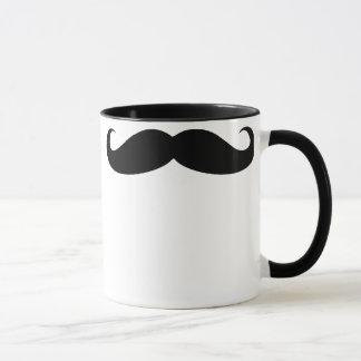 Taza de la bebida del café del bigote