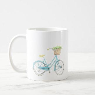 Taza de la bicicleta de la acuarela