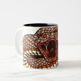 Taza de la cara de la serpiente