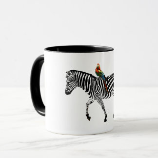"Taza de la ""cebra y del loro"""