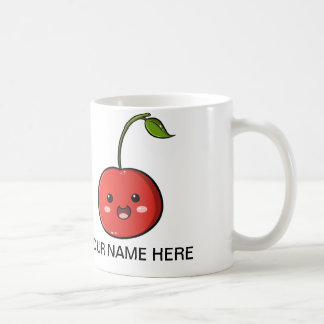 Taza de la cereza de la fruta de Kawaii