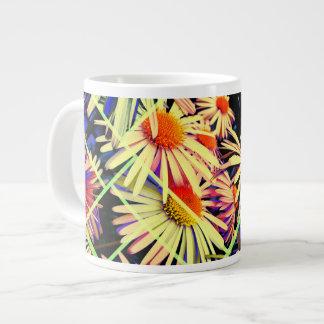 Taza de la decoración 66 de la flor taza grande