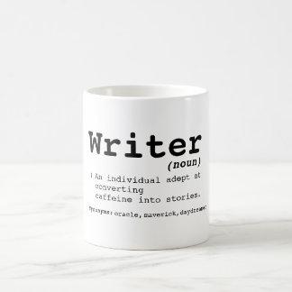 Taza de la definición del escritor