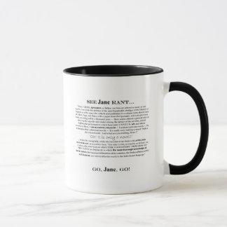 """Taza de la diatriba de """"Janeite"""" Jane"""