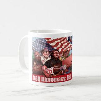 Taza de la diplomacia del Bbq (texto largo)