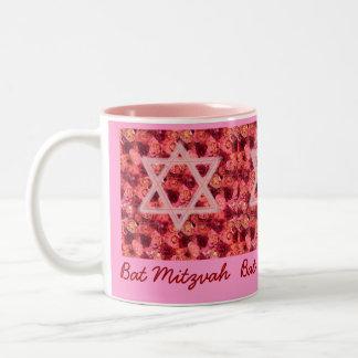 Taza de la estrella del rosa de Mitzvah del palo