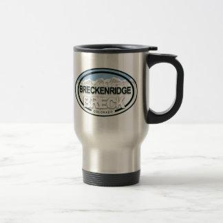 Taza de la etiqueta de la montaña de Breckenridge