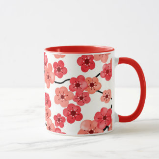 Taza de la flor de cerezo