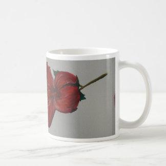 Taza de la flor de la acuarela