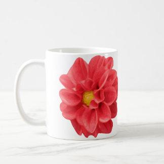 Taza de la flor de la dalia