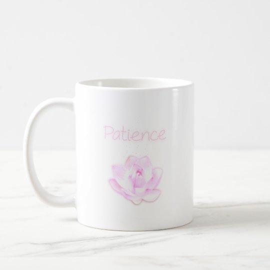 taza de la flor de loto de la paciencia