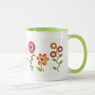 Taza de la flor del penique