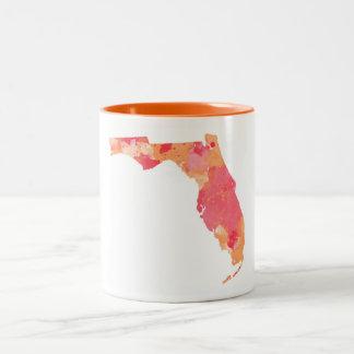 Taza de la Florida de la acuarela