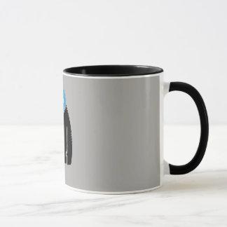 taza de la forma del diseño del yeti
