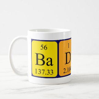 Taza de la frase de la tabla periódica de BadLad