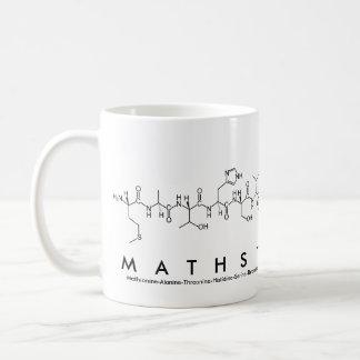 Taza de la frase del péptido de MathsTeacher