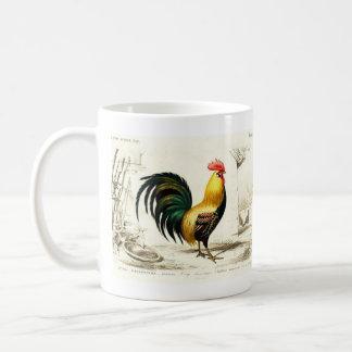 Taza de la granja del gallo del vintage del país