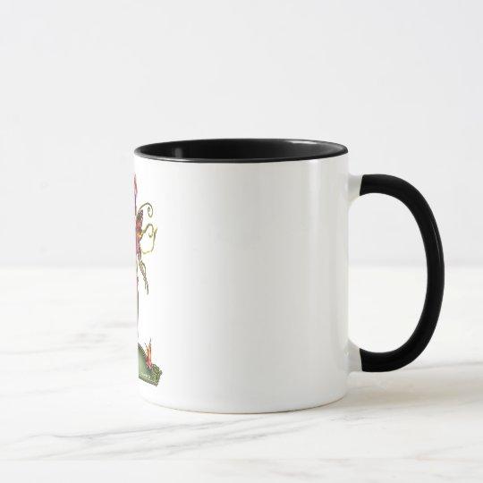 Taza de la hada de la mariposa de la fresa