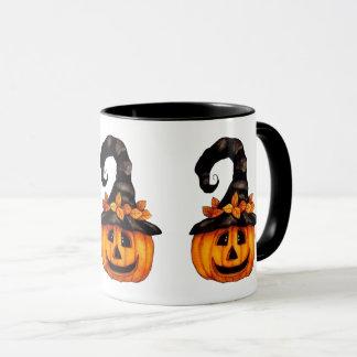 Taza de la Jack-o-Linterna de Halloween/del otoño