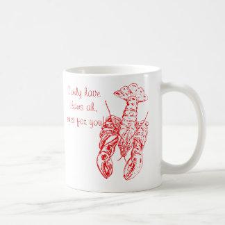 Taza de la langosta del día de San Valentín tengo