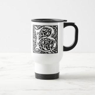 """Taza de la letra """"B"""" de William Morris -"""