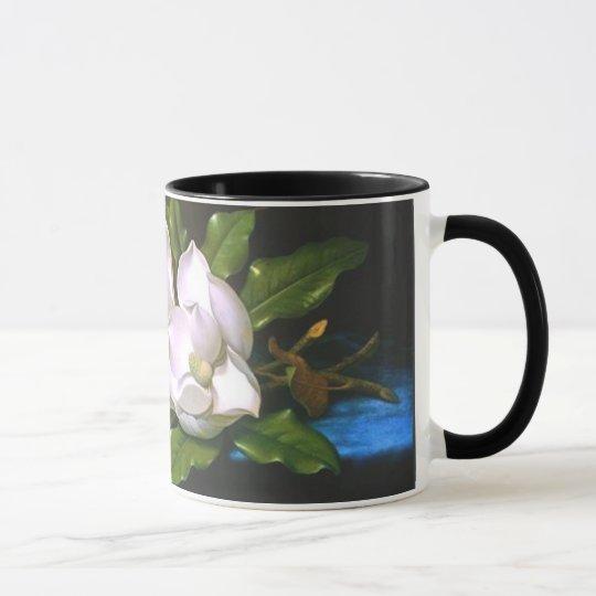 Taza de la magnolia del vintage