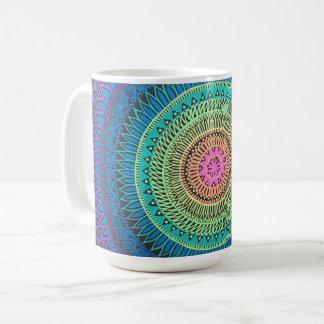 Taza de la mandala del arco iris