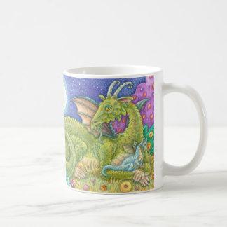 Taza de la mano derecha del dragón de la