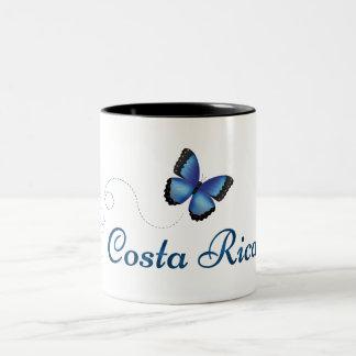 Taza de la mariposa de Costa Rica Morpho