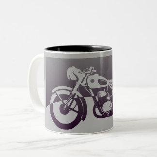 Taza de la motocicleta del vintage