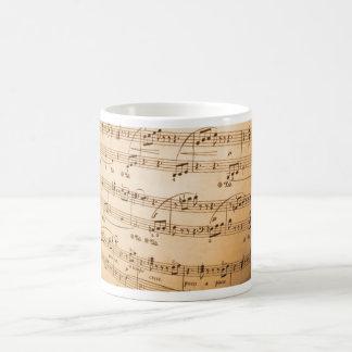 Taza de la obra clásica de la hoja de música