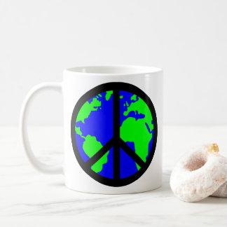 Taza de la paz de mundo