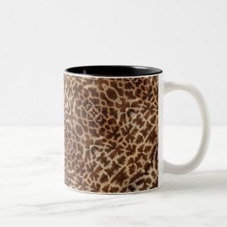 Taza de la piel de la jirafa