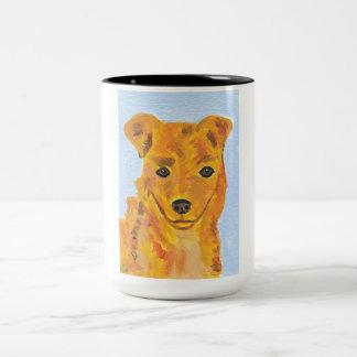 Taza de la pintura del perro de Terrier