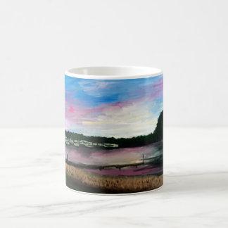 Taza de la pintura del puerto del lago Erie