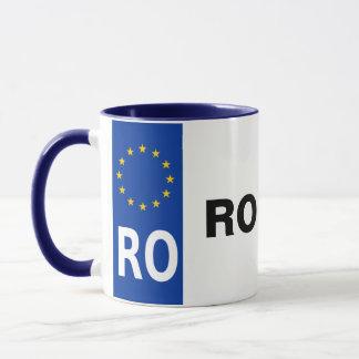 Taza de la placa de Rumania
