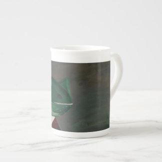 Taza de la porcelana de hueso de la rana de