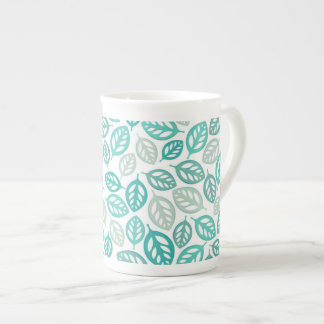 Taza de la porcelana de hueso de las hojas taza de porcelana