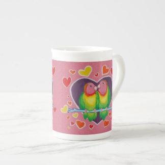 Taza de la porcelana de hueso de los pájaros del a tazas de china