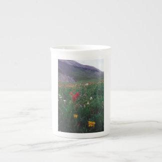Taza de la porcelana de hueso de los Wildflowers Taza De Porcelana