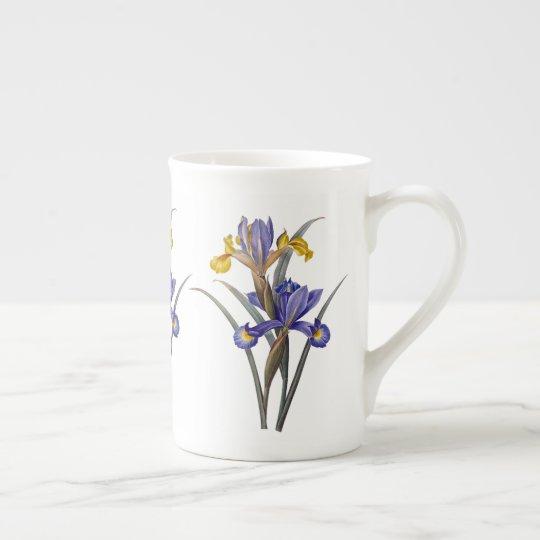 Taza de la porcelana de hueso de Redoute del iris