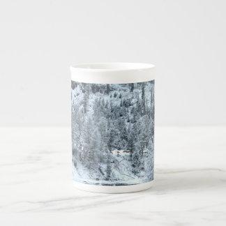 """Taza de la porcelana de hueso - """"día de invierno"""