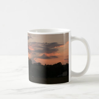 Taza de la puesta del sol
