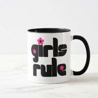 Taza de la regla de los chicas