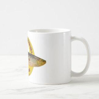 Taza de la sardina del vintage